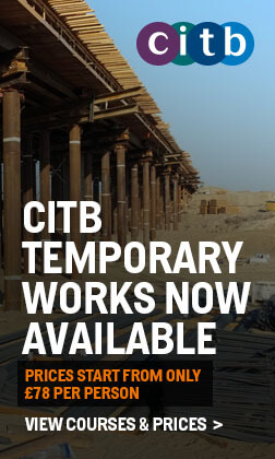 CITB Temporary Works now available! View Courses & Prices