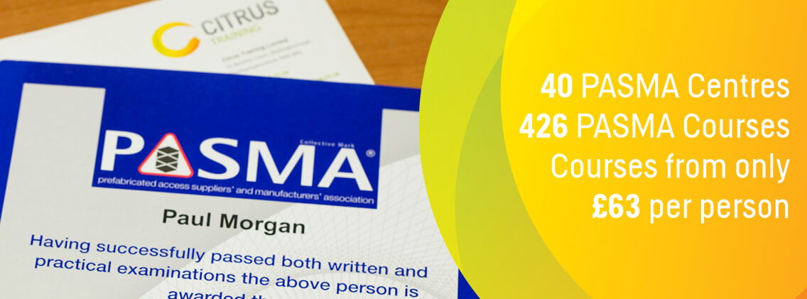 pasma training courses banner